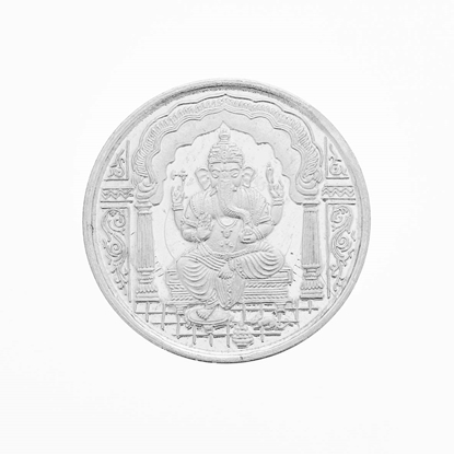 Picture of Silver Ganesh Coin