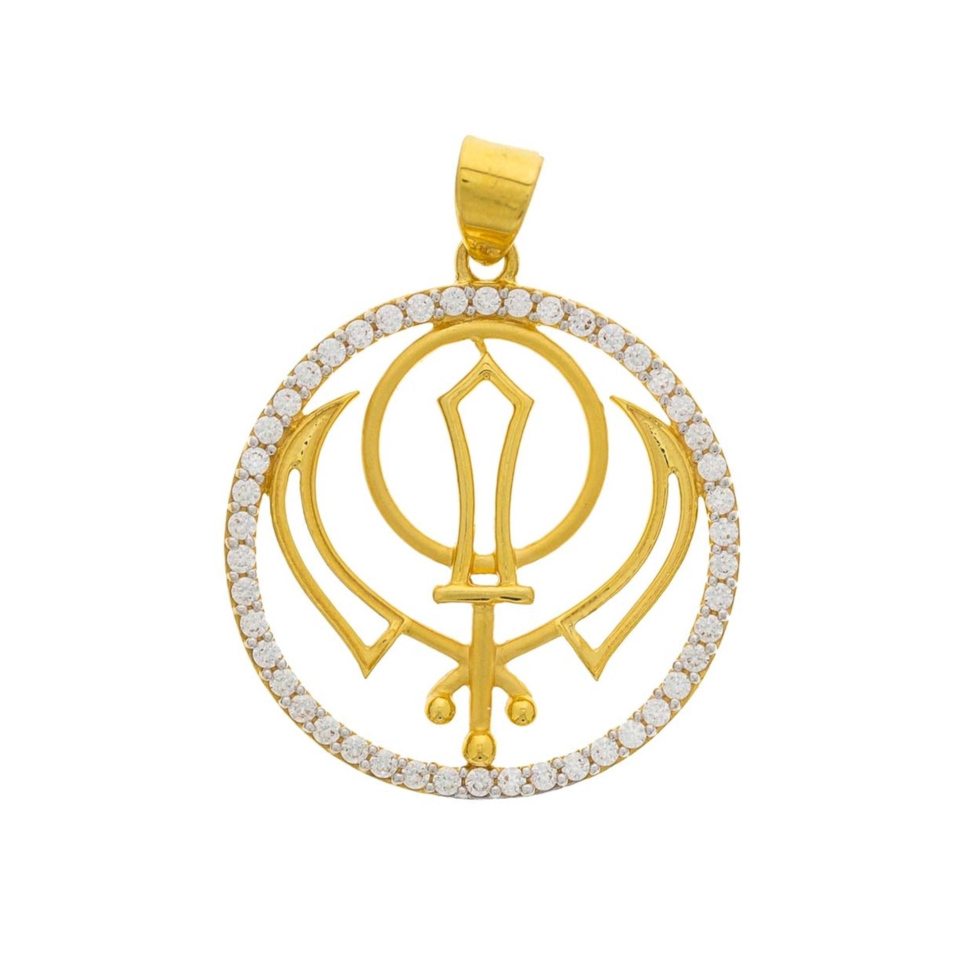 Regal jewels inc 22kt gold pendant picture of khanda strength mozeypictures Images