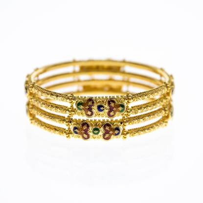 Picture of Gold Bangle Pair