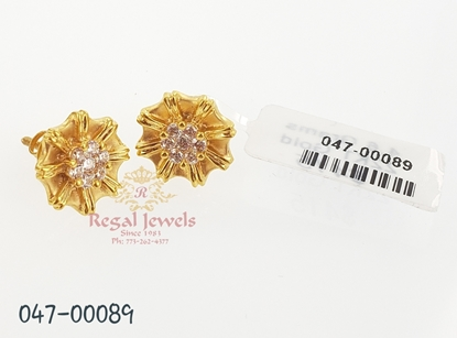Picture of Regal Jewels 22KT Gold Earring  047-00089