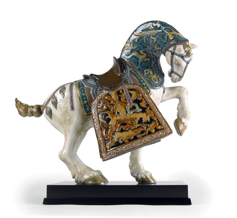 Picture of Oriental Horse Sculpture. Glazed. Limited Edition Regal LL-01001943