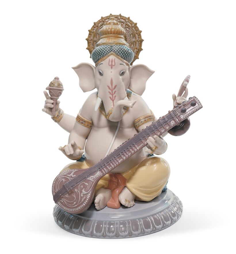 Picture of Veena Ganesha Figurine Regal LL-01008288