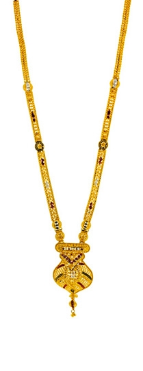Picture of 22kt Plain Gold Long Haar SLS-2010