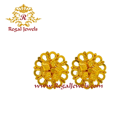 Picture of 22kt Gold Tops/Earrings ETO2063