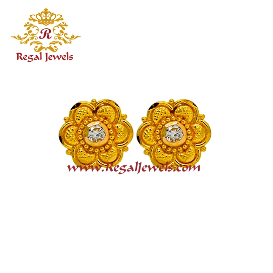 Picture of 22kt Gold Tops/Earrings ETO2064